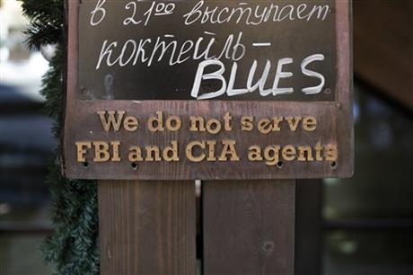 Sochi Sign We Do Not Serve FBI And CIA Agents