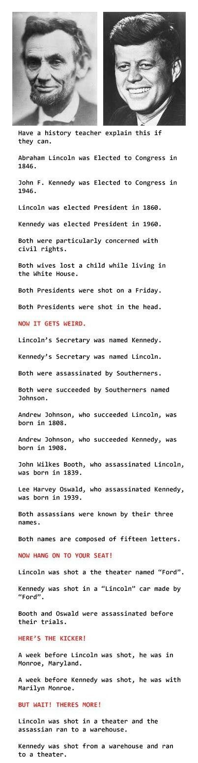 Abraham Lincoln and John F. Kennedy Weird Facts
