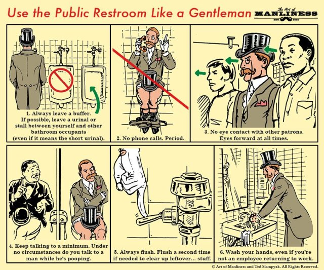 How to Use the Public Restroom Like a Gentleman