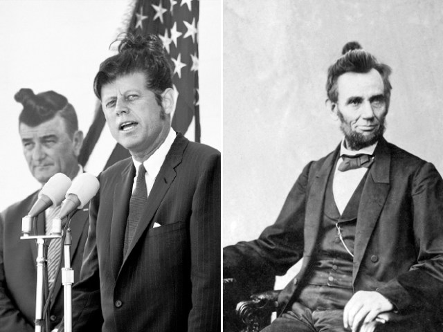 Politicians With Man Buns Kennedy and Lincoln