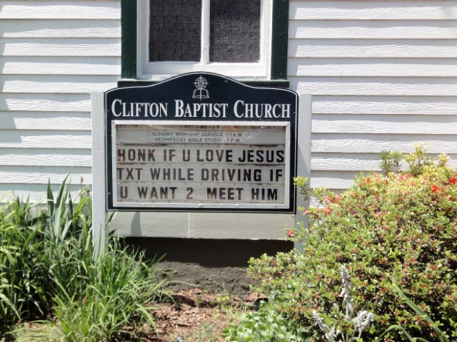 Funny Church Signs 3