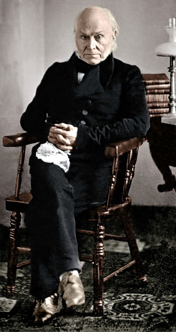 John Quincy Adams- - 6th President of the United States, restored (somewhat) and in color