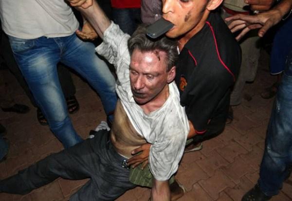 Diplomat Christopher Stevens taken after the attack on Benghazi