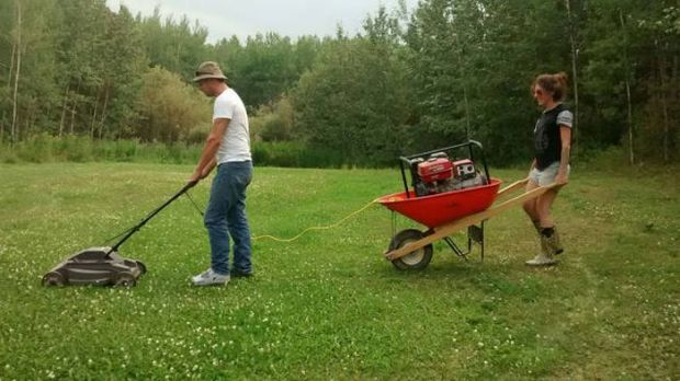 Redneck Electric Lawnmower