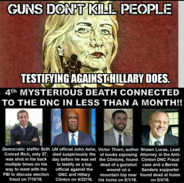 Guns don't kill people the Clintons do