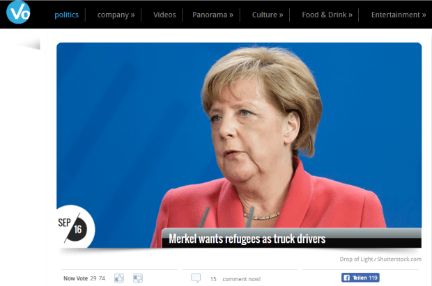 Merkel Wanted Refugees As Truck Drivers