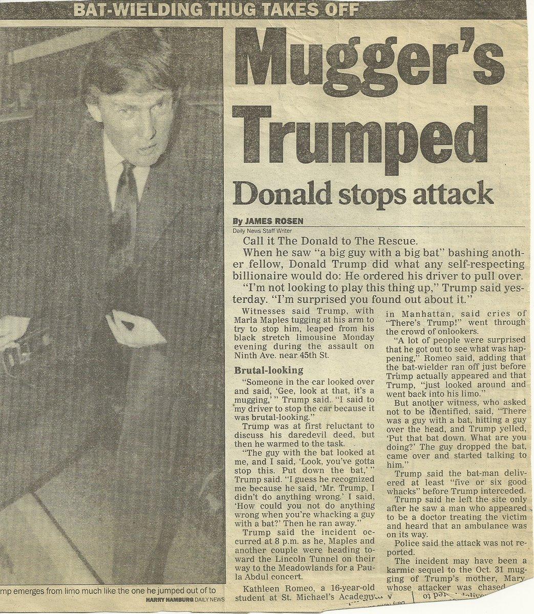 Mugger's Trumped : Donald Stops Attack