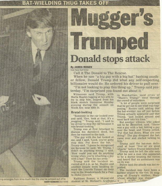 Trump Mugger - Trump Stops Mugger in 1991