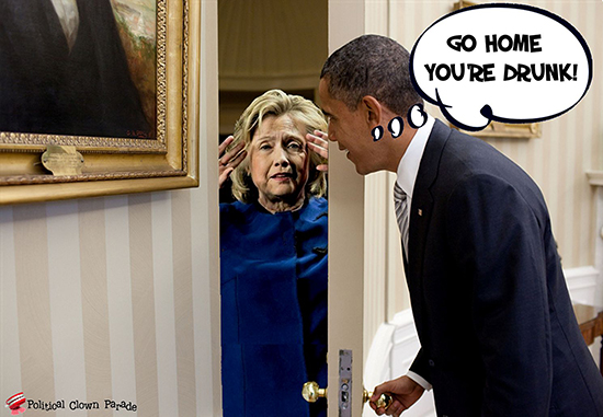 At Obama's Door Crooked Hillary