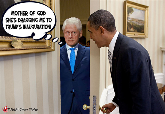 At Obama's Door Slick Willie