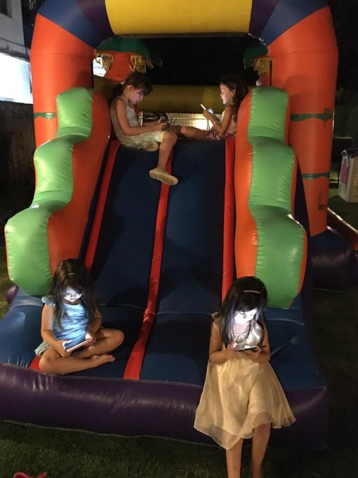 Picture Of The Day: Little Girls Having Fun In A Bouncy Castle