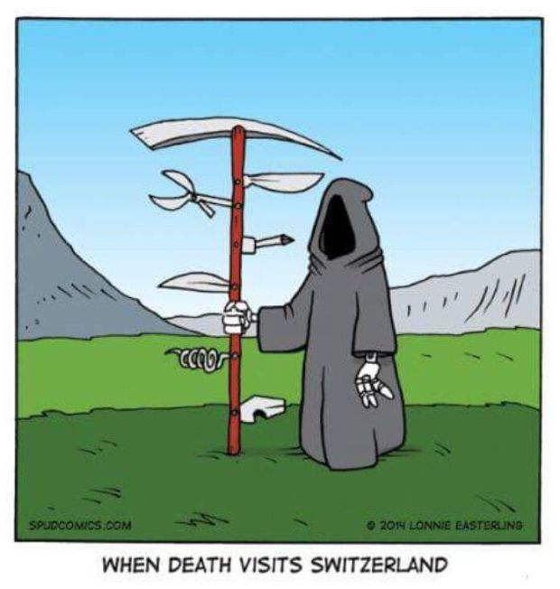 Cartoon Of The Day: The Swiss Reaper