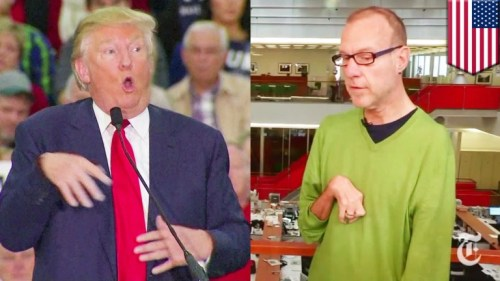 Trump mocks disabled reporter