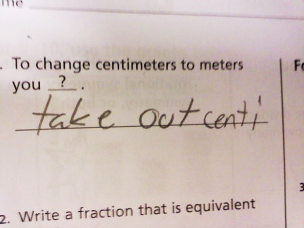 Test Answer Of The Day: Centimeters To Meters