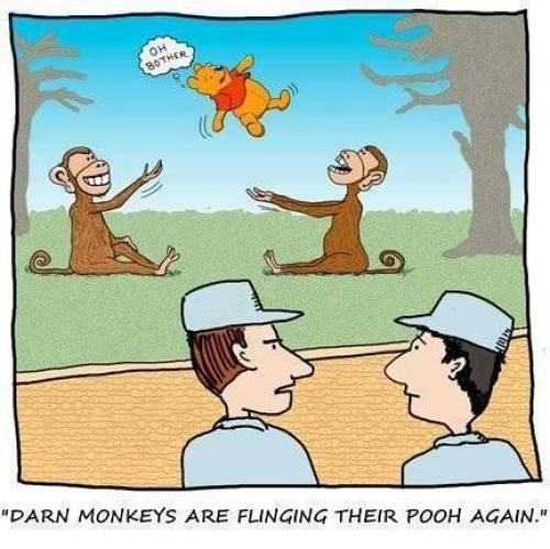 Cartoon Of The Day: Monkeys Flinging Poo