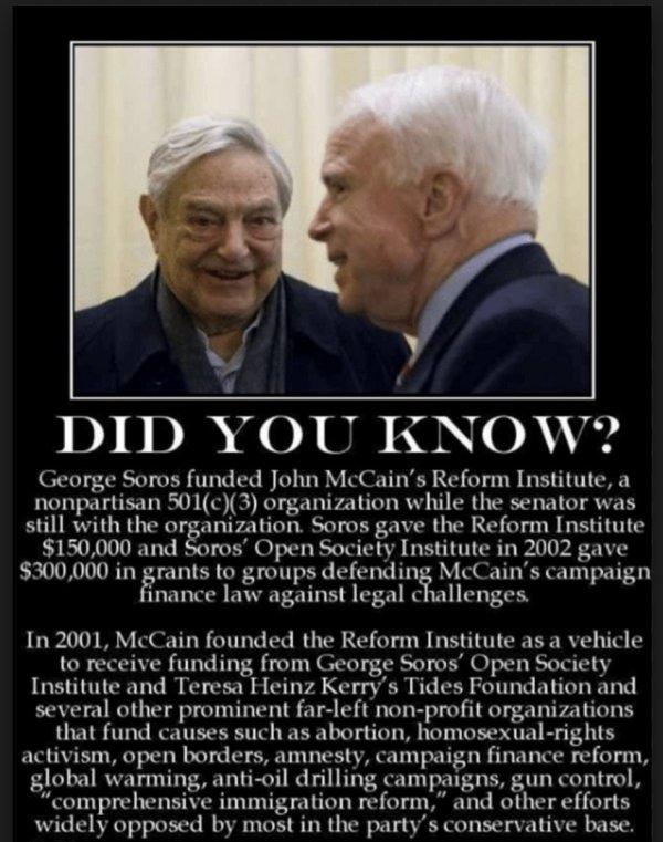 Soros and McCain