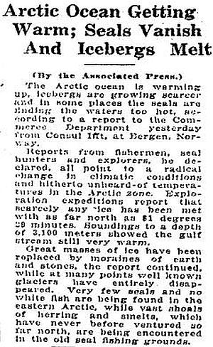 Global Warming? 1922
