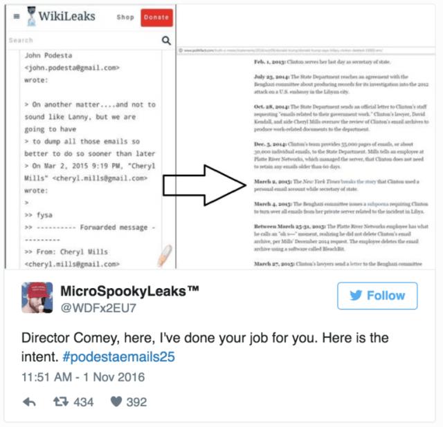 Hillary's Intent Found