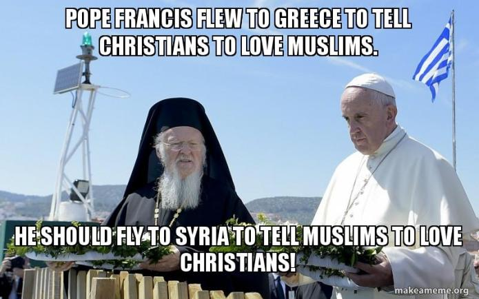 Pope Francis Flew To Greece