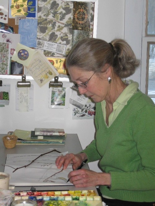 Beverly Duncan in her studio