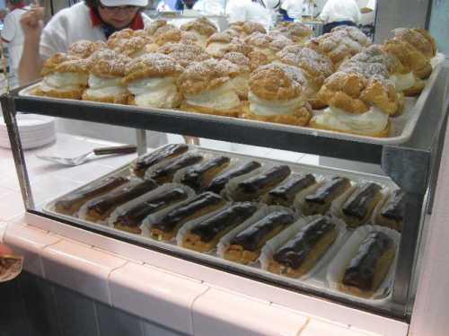 Big E cream puffs and eclairs