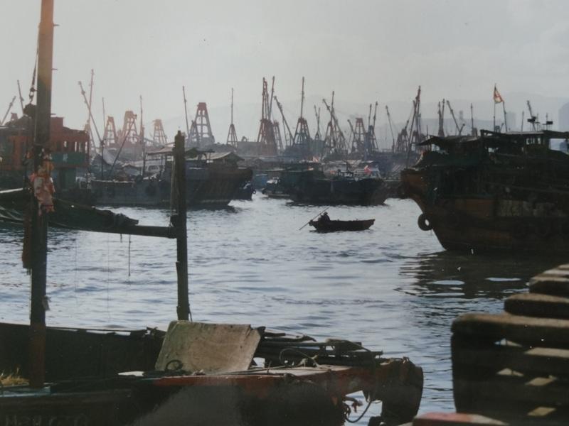 Boats in the Hong Kong bay