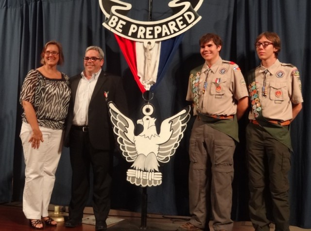 An Eagle Scout family