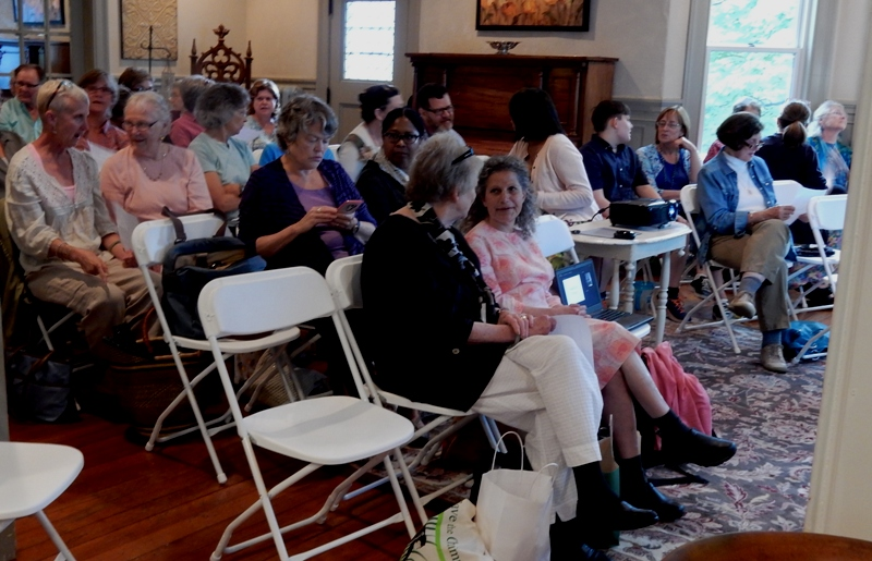 audience for terrarium talk at The Brandt House B&B