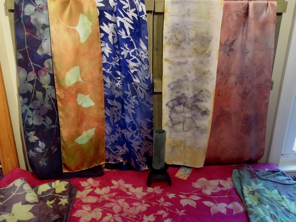 Silk scarves at Paint & Dye in Shelburne Falls