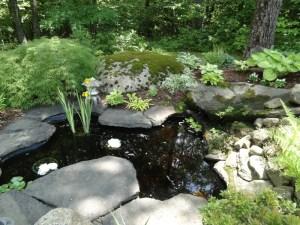 Handmade pond