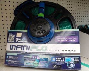 Infiniflo hose and versatile sprinkler
