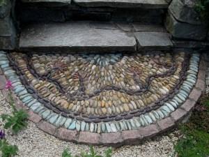 Stones were gathered in this Seattle garden