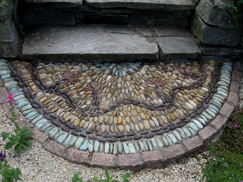 Stones were gathered in this Seattle garden