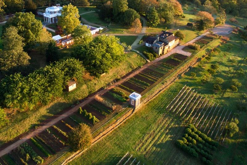 Jefferson's vegetable garden, 1000 feet long