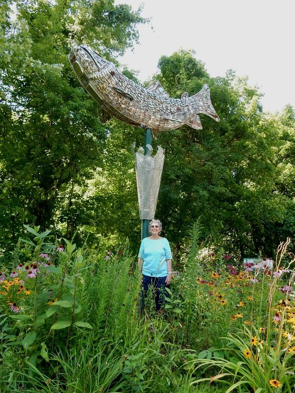 Brookie sculpture