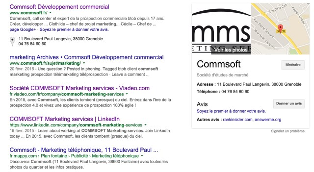 indexation google commsoft