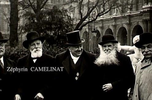 """Camélinat tiré du film d'Armand Guerra """"La Commune"""" de 1914 (source Ciné-Archives)"""