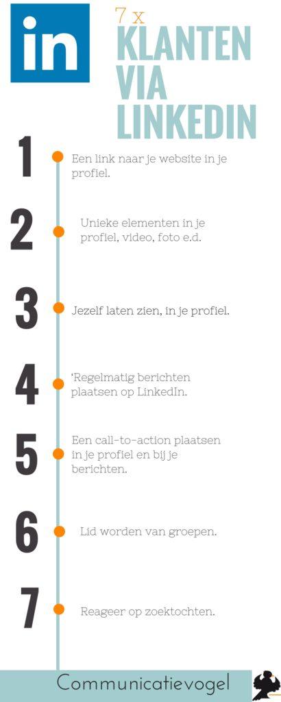 7 Tips voor klanten via Linkedin