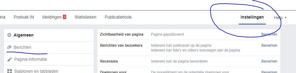berichten op Facebook automatisch beantwoorden