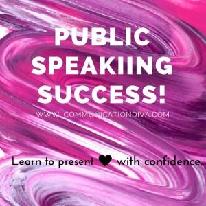 Public Speakiing Success!