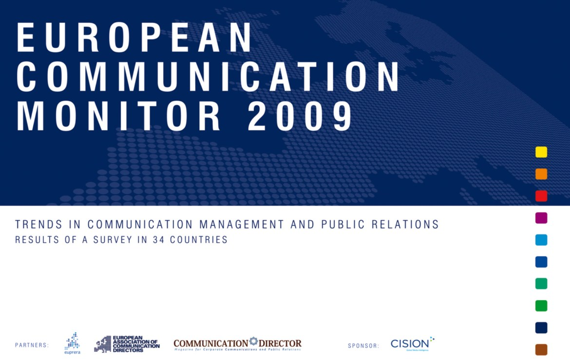 ECM European Communication Monitor Report 2009 Communication Management Public Relations Trends Evaluation Measurement Social Media