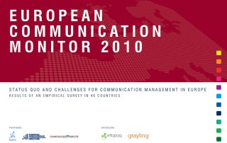 ECM European Communication Monitor Report 2010 communication management recession Job satisfaction Leadership Social Media