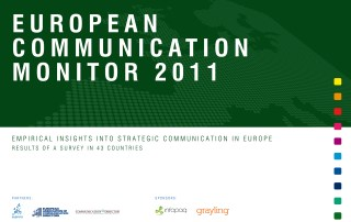 ECM European Communication Monitor Report 2011 Strategic Communication Reporting Decision making PR credibility ROI Social Media Governance Qaulifications