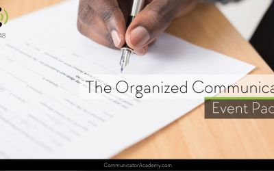 148 The Organized Communicator Event Packet