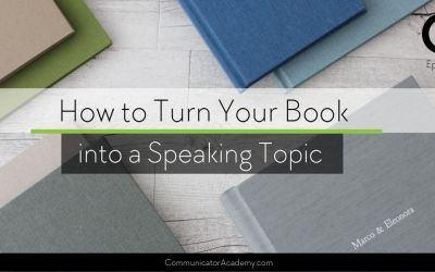 161 How to Turn Your Book into a Speaking Topic