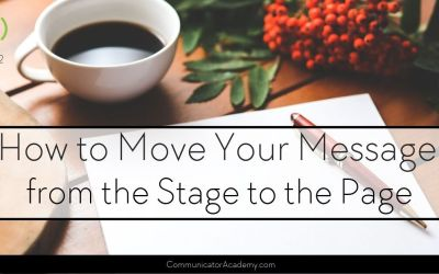 162 How to Move Your Message from the Stage to the Page with Cheri Gregory Part  1
