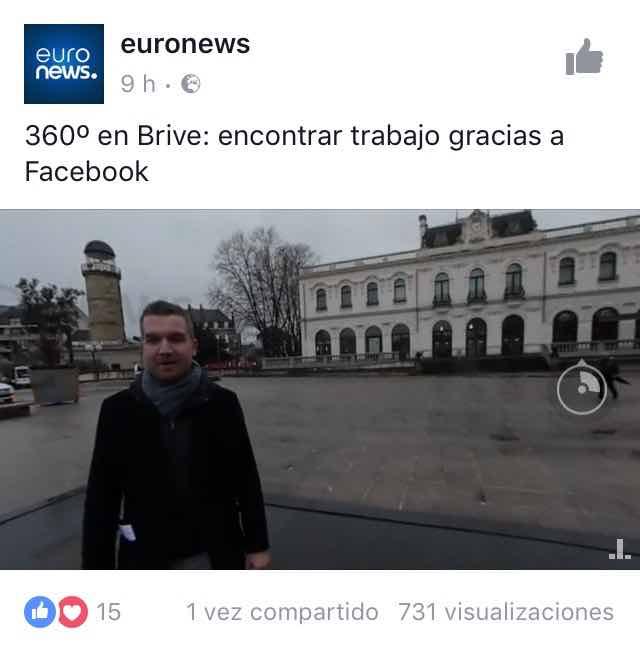 euronews facebook video 360 grados analisis community internet