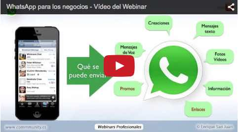 WhatsApp para los negocios Enrique San Juan Video Webinar