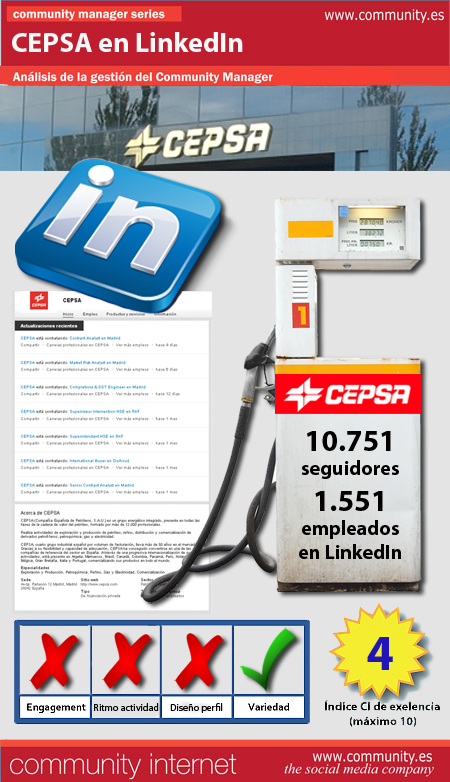 infografia CEPSA Linkedin community internet the social media company redes sociales community management community manager
