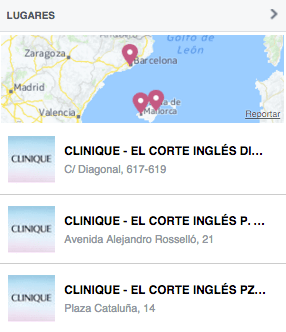 lugares clinique facebook analisis community internet